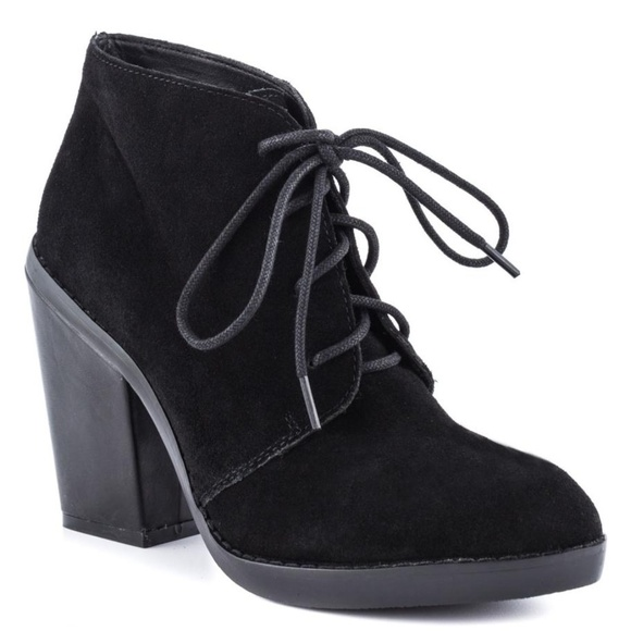 b9bff8541dd Steve Madden Jayson Black Lace Up Suede Bootie